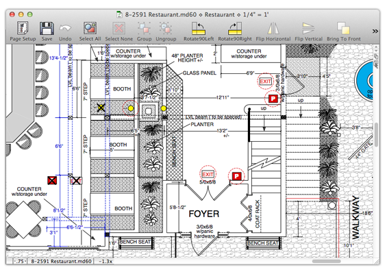 Macdraft pro features powerful 2d drafting design for 2d architectural drawing software free