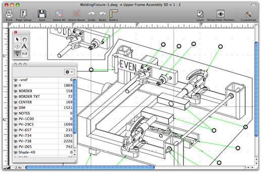View annotate and print dwg and dxf files on your mac Online cad editor