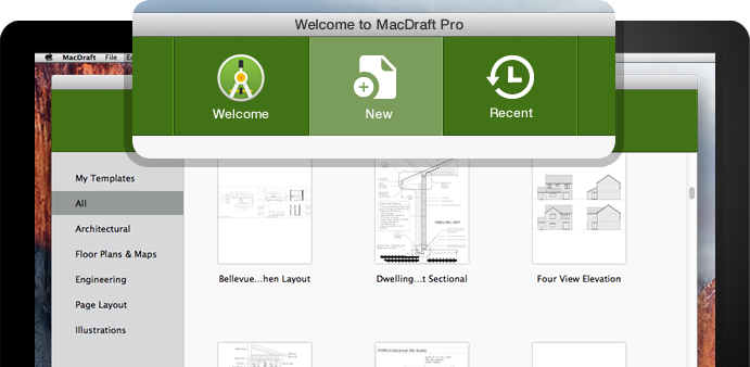MacDraft Template Chooser