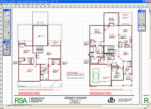 Architectural cad drawings home designer for Online cad drawing software